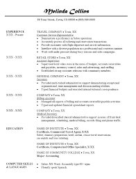 resume sample for travel agent .