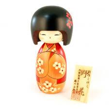 japanese doll wooden kokeshi handmade in japan nobana