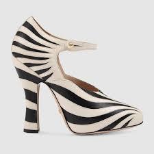 gucci zebra shoes. gucci. women\u0027s white lesley zebra-appliqué leather pumps gucci zebra shoes i