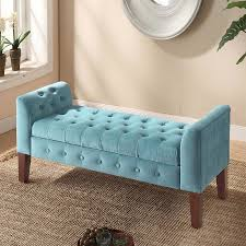 grey tufted storage bench. Velvet Tufted Storage Bench Grey L