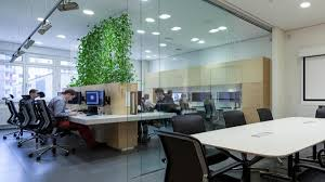 modern office plants. Modern Office. Office Interior With Indoor Plants | House Design And Decor R