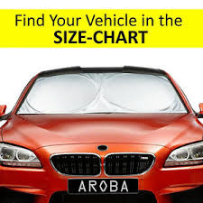 Sun Size Chart Details About Windshield Car Sun Shade Exact Fit Most Size Chart For Cars Suv Trucks Minivans