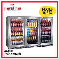 3 door counter chiller glass door tien tien