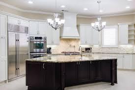 Ginger Island White Kitchen Cabinets Edina