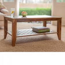 Sheesham Bedroom Furniture Wooden Coffee Table Premium High Quality Sheesham Camellias