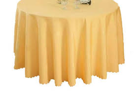 set of 2 round table cloth table cover gold
