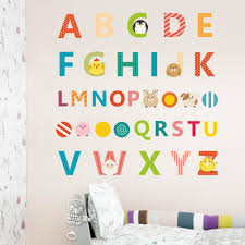 diy colorful english letters elphabet wall sticker for kids rooms nursery cartoon room decor wall decal