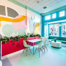 Restaurant Design Trends 2018 Restaurant Design Trend Colorful Pastel Blobs Are