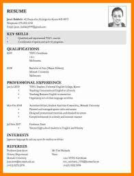 8+ Examples Of Curriculum Vitae For Job Application | Points Of Origins