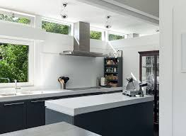 modern gray and white kitchen with skylights modern grey kitchens s55 white