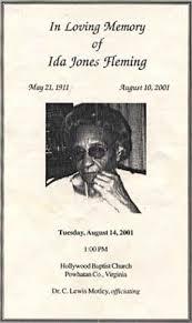 Ida Jones fleming Obituary