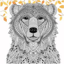 Small Picture Color a Bear from The Menagerie Free Adult Coloring Page
