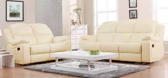 2 montreal 32 cream recliner sofas leather 1 jpg