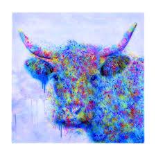 saatchi art artist liz ravn printmaking the cow that stood between the canvas