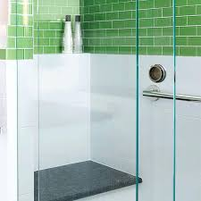 fun bathroom fun and bright green tiled bathroom renovation shower built in bench and shelf nook case funny bathroom art dumb and dumber