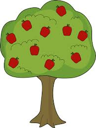 green and red apples clipart. red apple tree clip art image - big green with apples. and apples clipart