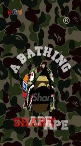 Shark hoodie BAPE head ...