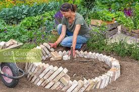 circular raised brick herb bed von gap
