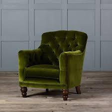 tufted glove velvet armchair by authentic furniture