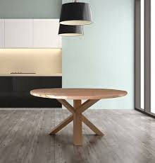 round dining table timber base
