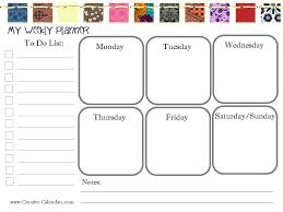 Printable Weekly Schedule Maker Free Printable Weekly Planner