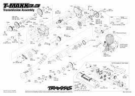 4907 transmission exploded view t maxx 3 3 traxxas view pdf
