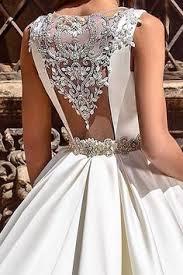 White Backless Bridal Dress,Beaded <b>Ball Gown</b>,<b>Custom Made</b> ...