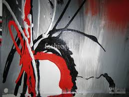 stretched red grey contemporary abstract oil painting on canvas artwork handmade home office hotel decoration wall on grey red wall art with stretched red grey contemporary abstract oil painting on canvas