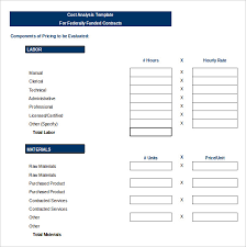 Vendor Analysis Template 40 Free Word Excel PDF Format Download Classy Cost Analysis Format