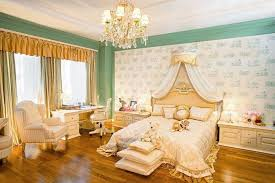 luxury canopy bed with unique wall art and elegant curtains also using wooden flooring ideas for pretty bedroom decor