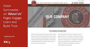 About Us Page Design For Website Great Summaries On About Us Pages Engage Users And Build Trust