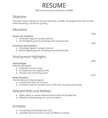 Example Of Simple Resume Format Common Tips For Narrative Essay