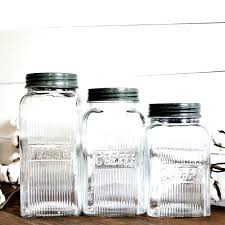 sugar jars mason jars coffee flour sugar canisters set of 3 sugar jars