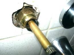 bathtub faucet leaking