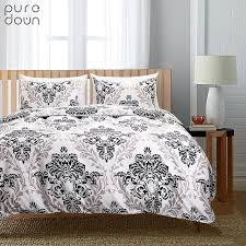 puredown bed pillowcase duvet cover sets 100 cotton bed linen twin double queen king size