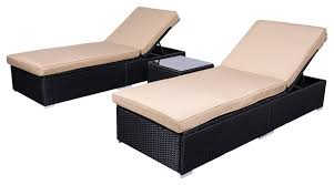 wicker rattan chaise sofa 3 piece lounge set