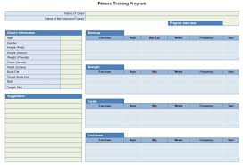 program sheet template workout program sheet