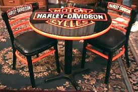 Harley Davidson Table and Chairs BRASS LANTERN ANTIQUES