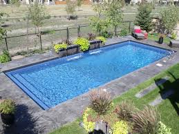 Exellent Rectangular Pool Designs Small Swimming Pools Tropical Backyard Landscaping Ideas With Impressive Design