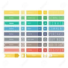 Button Design Web Elements Site Buttons And Vector Shop Button Set Design