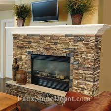 faux stone fireplacestraditional living room miami