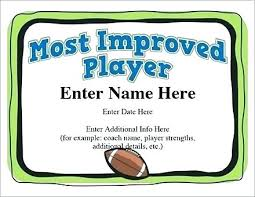 Most Improved Award Template Sidered Info