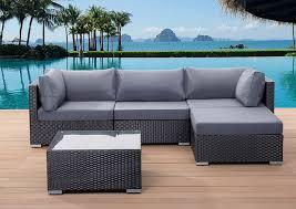 high end garden furniture. outdoor sectional sofa in black wicker high end garden furniture b