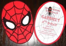 Diy Homemade Spider Man Birthday Invitations Utopia Party Decor