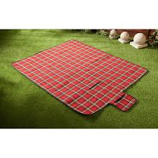 318645 tartan picnic rug red