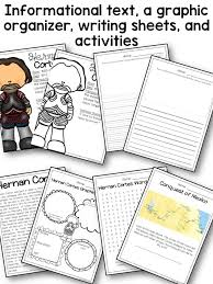Hernan Cortes And Francisco Pizarro Venn Diagram Hernan Cortes Biography Pack New World Explorers A Page Out Of