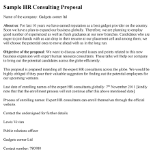 Sample Proposal Letter For Consultancy Services Hr Consulting Proposal Template