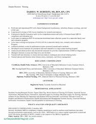 New Graduate Nurse Resume Awesome Newly Graduate Nurse Resume Sample