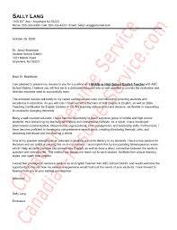 Letter Application English Teacher English Teacher Cover