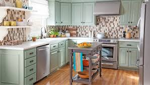 Overview of remodeled kitchen